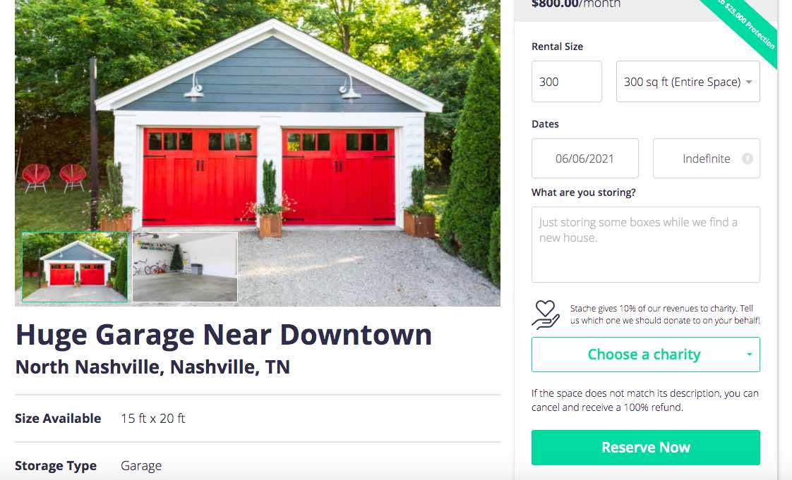 earn income renting your garage