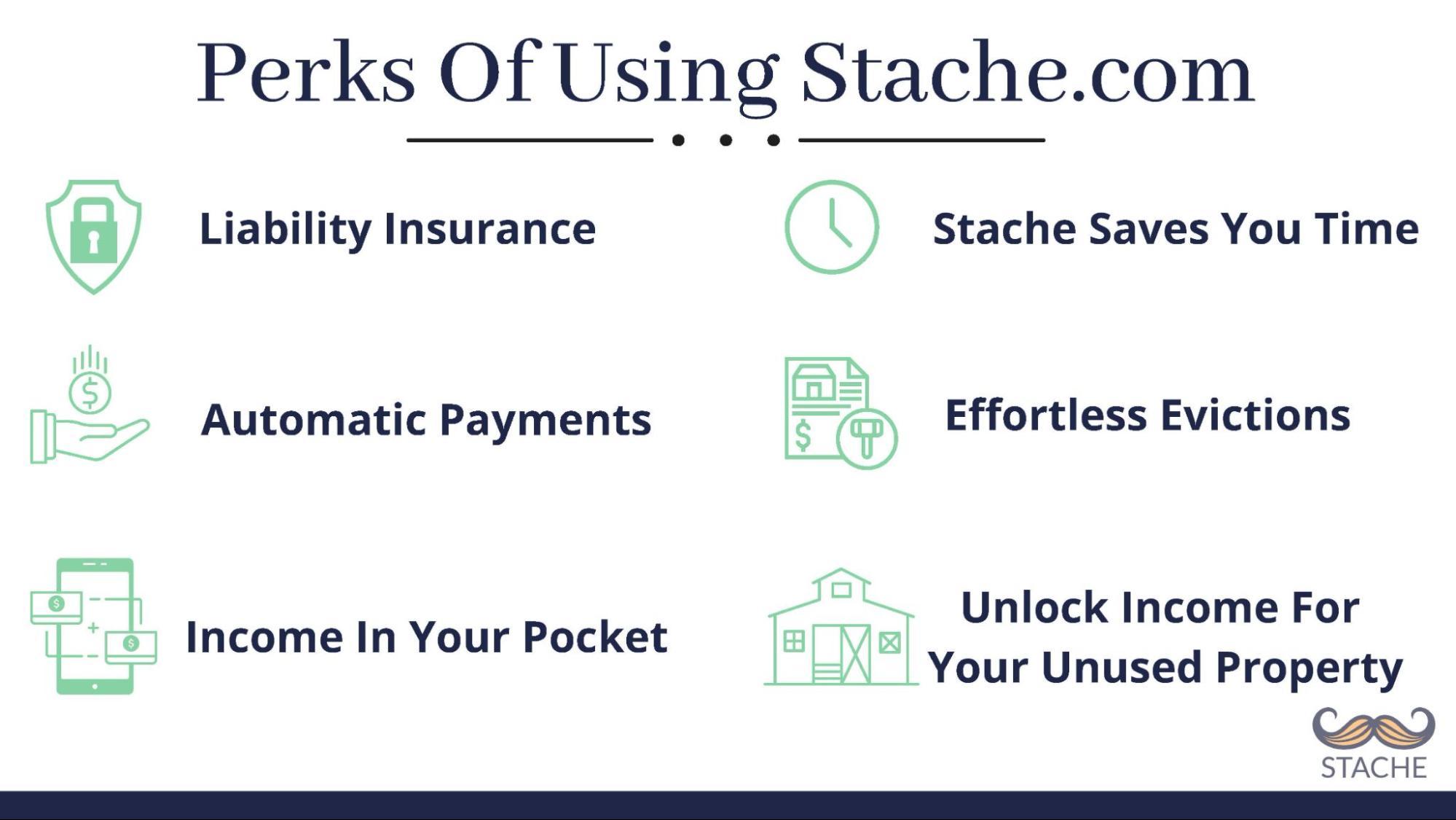 perks of using stache.com