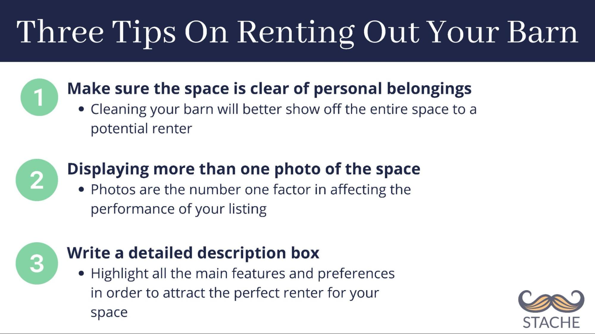 tips on renting out your barn